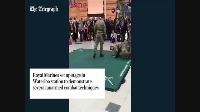 مبارزه دفاع شخصی تفنگداران دریایی انگلیس ...