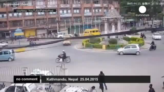 زلزله نپال از نگاه دوربین های مدار بسته