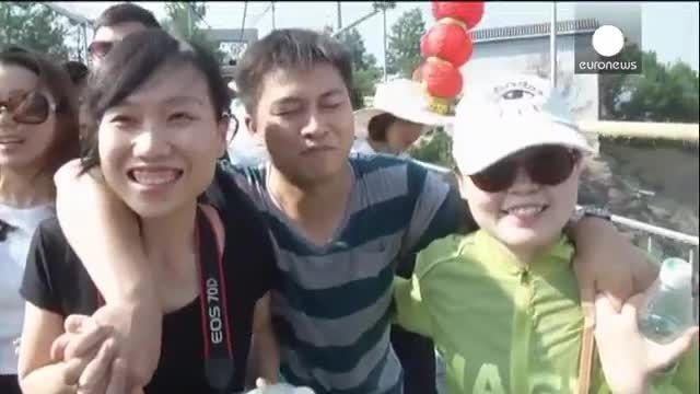 طولانی ترین پل معلق شیشه ای جهان در چین افتتاح شد