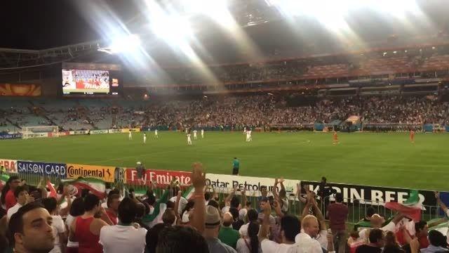 لحظه تک گل ایران مقابل قطر