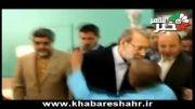 عیادت دکتر لاریجانی و هاشمی استاندار تهران از جانبازان