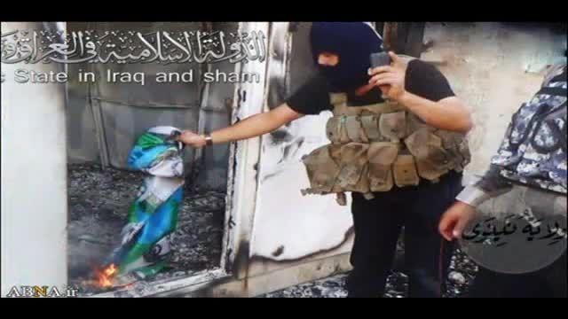 داعش به عکس و پرچم امام حسین(ع) هم رحم نکرد!!!