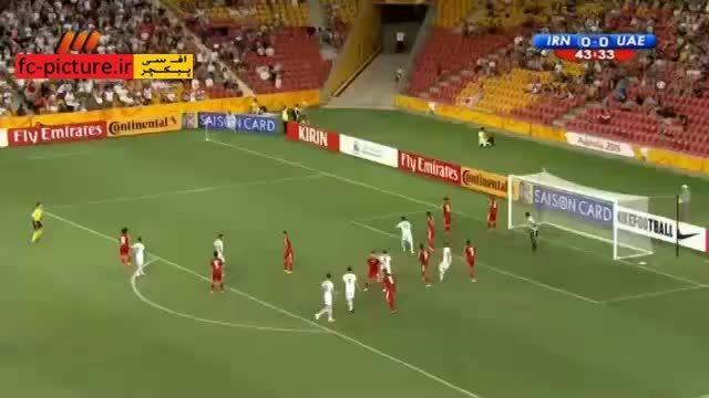 صحنه مشکوک به پنالتی برای ایران مقابل امارات