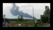 لحظه سقوط هواپیمای مالزی با 295 سرنشین در مرز روسیه