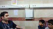 مصاحبه دانش آموزان با پزشک بیمارستان کیش
