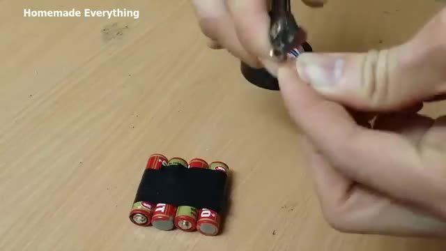 سری کردن 4 عدد باتری با روشی ساده