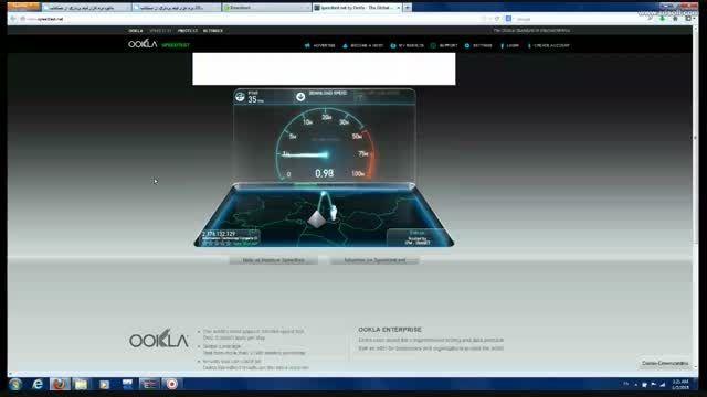*حتما ببینید* اینم از تست سرعت اینترنت خودم
