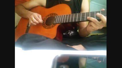 گیتار پاپ.آکورد و ملودی.تقلید محسن یگانه.ریتم چهار چهار