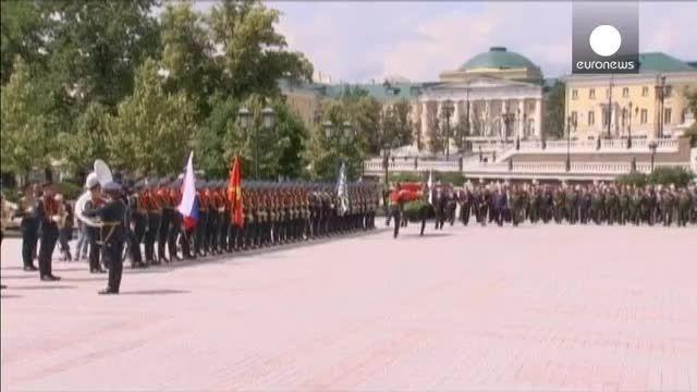 مراسم بزرگداشت قربانیان «جنگ بزرگ میهنی» در روسیه
