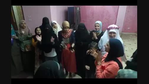 جشن آزادی زن مصری از زندان در مصر