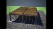 انیمیشن نحوه اجرای سازه بتنی ساختمان