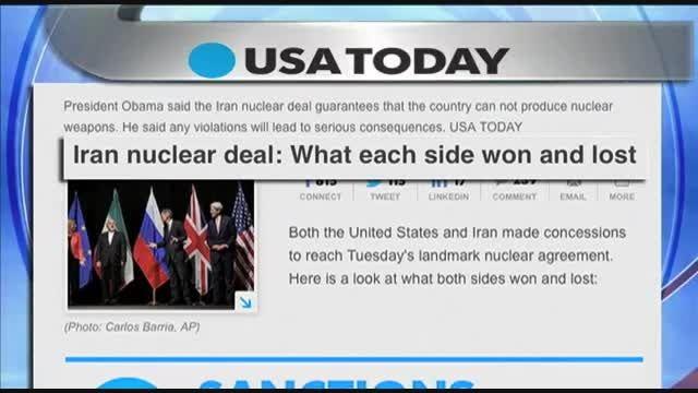 توافق هسته ای ایران بازتاب گسترده ای در سطح جهان دارد