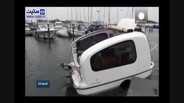وسیله نقلیه ای که هم قایق است هم کاروان