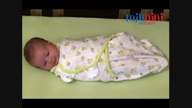 قنداق نوزاد سامر Summer آموزش قنداق پیچ کردن نوزاد