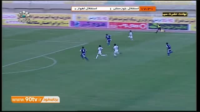 خلاصه بازی: استقلال خوزستان 4-0 استقلال اهواز