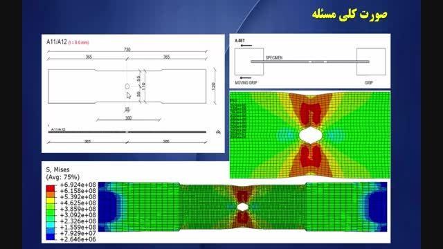 شبیه سازی تست کشش قطعه و مقایسه با نتایج آزمایشگاهی