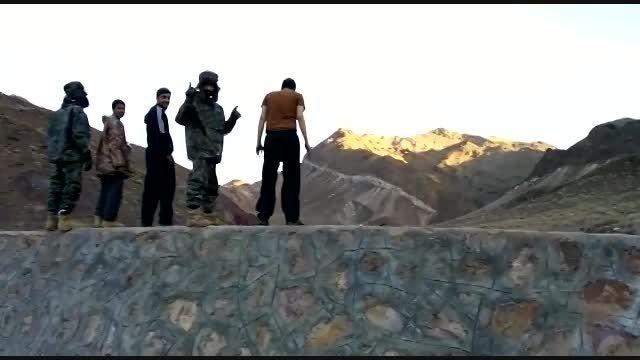 خودکشی دسته جمعی موتور سواران گود دردریاچه ابسرد زمستان