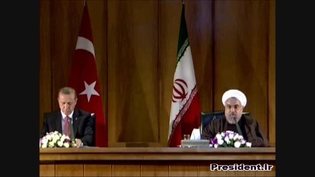 نشست مطبوعاتی روسای جمهور ایران و ترکیه