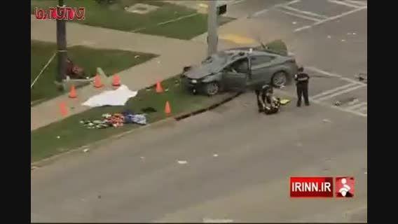 رانندگی یک زن ۴۸ نفر را راهی بیمارستان کرد
