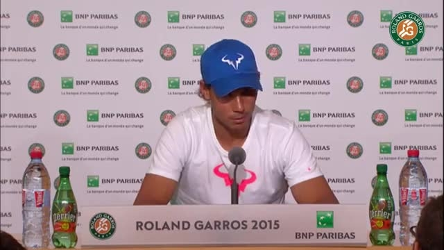 کنفرانس خبری رافائل نادال (تنیس فرانسه 2015) رولندگاروس