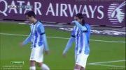 گل جرارد پیکه به مالاگا - بارسلونا 1 - مالاگا 0
