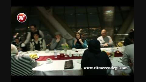جشن تولد خانوادگی علیرضا قربانی در رستوران برج میلاد
