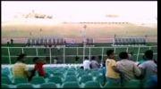 هرمزگان. ورزشگاه خلیج فارس.رقصیدن دو تماشاگر۹۳.۰۷.۱۸