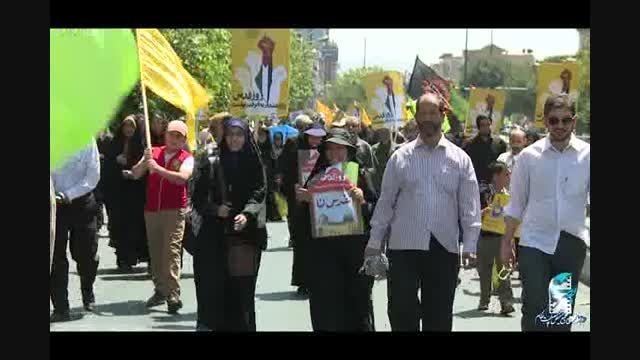 حضور آیت الله هاشمی رفسنجانی در راهپیمایی روز جهانی قدس