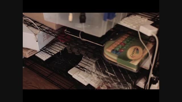 کیبورد ارگونومیک چوبی keyboardio