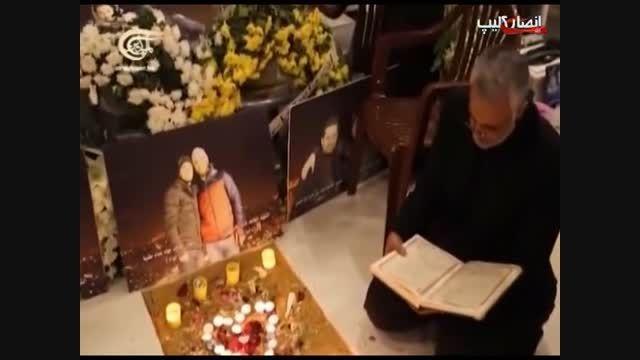 قرآن خواندن حاج قاسم بر سر مزار مطهر شهید جهاد مغنیه