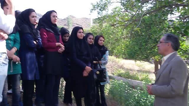 اردوی علمی دانشجویان گیاهپزشکی در منطقه دلفارد جیرفت