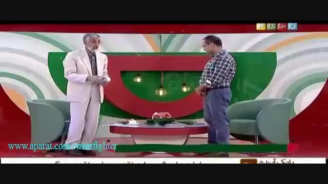 ماسک هدیه دادن جناب خان به دکتر حداد عادل
