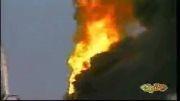 آتش سوزی تانکر حامل ماده شیمیایی