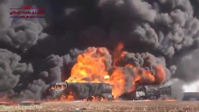 زدن نفتکش های داعش توسط روسیه قبل از رسیدن به ترکیه