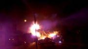 ویدئو / انفجار قطار باری در كانادا و مرگ همه افراد حاضر در محل انفجار