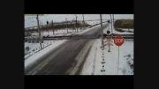 برخورد مرگبار قطار با کامیون + فیلم