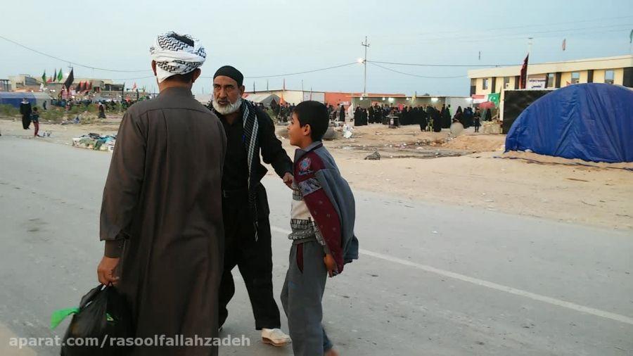 خواهش پیرمرد عراقی از زائرین برای اسکان در موکبش