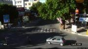 تصادف مرگبار موتورسوار با پژو در قزوین