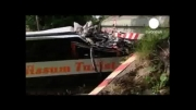 40دانش آموز دانمارکی در تصادف اتوبوس با پل مجروح شدند
