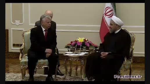 دیدار دکتر روحانی با رئیس مجلس سنای لهستان