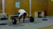 آسیب دیدگی نوجوان 15ساله در وزنه برداری(100kg(