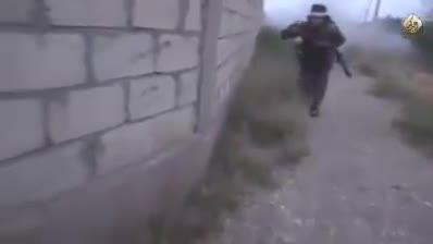 پوکوندن مخ داعش از پشت دیوار تو الرمادی عراق