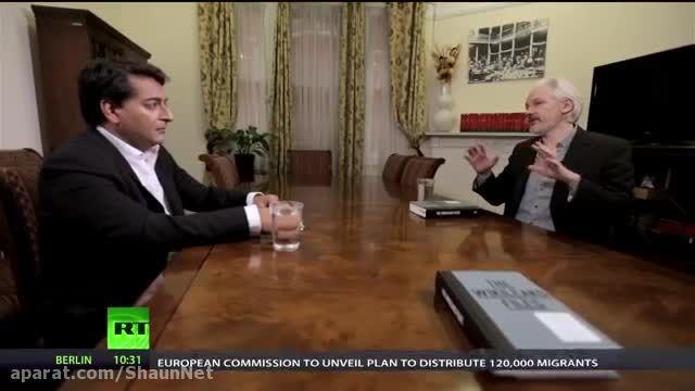 10برترین مصاحبه تاریخ  خبرگزاری روسیه 10 جولیان آسانژ