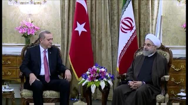 دیدار رسمی دکتر روحانی با رئیس جمهور ترکیه