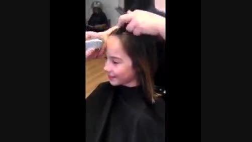 کوتاه کردن موی دختر بچه