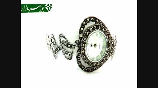 ساعت نقره و مارکازیت طرح قلب زنانه - کد 4692