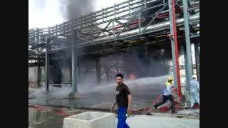 آتش سوزی در پتروشیمی تخت جمشید ماهشهر