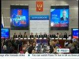 اشکهای پوتین پس از پیروزی قاطع در انتخابات روسیه