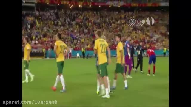 جشن قهرمانی استرالیا بعد از پیروزی مقابل کره جنوبی