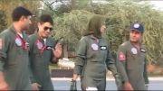 بانوی محجبه خلبان جت جنگنده در نیروی هوایی پاکستان خانم عایشه فاروق